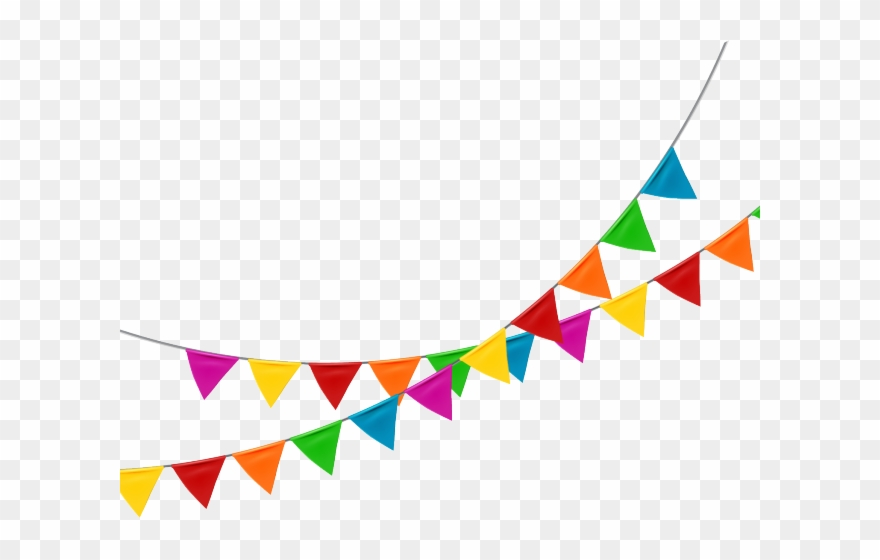 Bunting Clipart Clear Background.