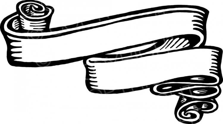 Vintage Blank Banner Clip Art.