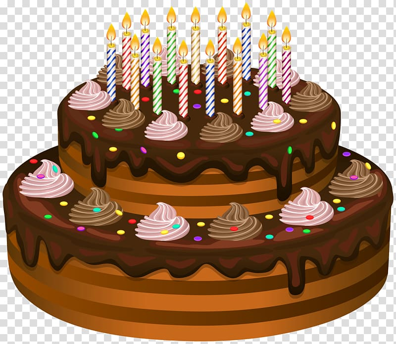 Birthday cake , Birthday Cake transparent background PNG.