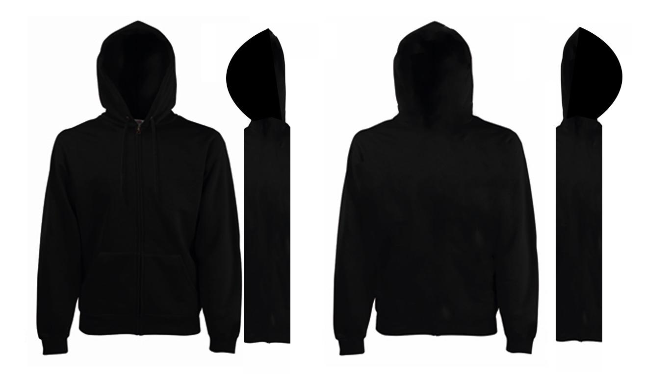 Black hoodie clipart.