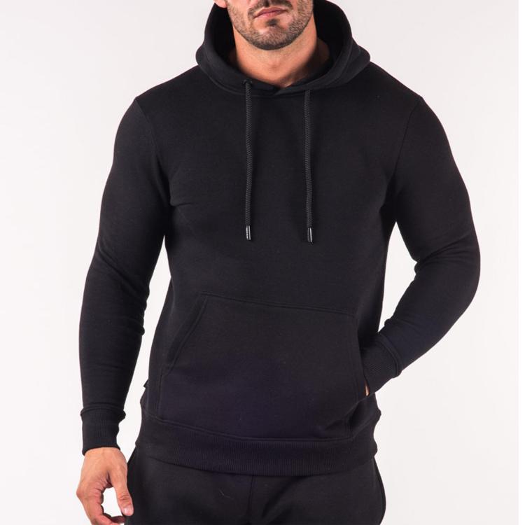 Blank Black Customized Logo Activewear Wholesale Sweatshirt Hoodie Men.