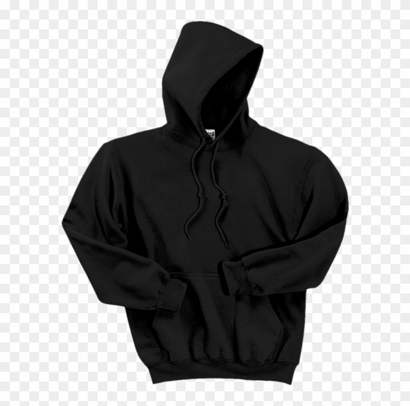 Gildan Dryblend Pullover Hooded Sweatshirt 12500 Black.