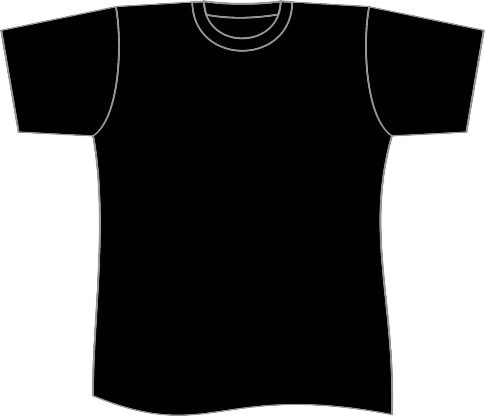 Plain Black T Shirt Clipart.