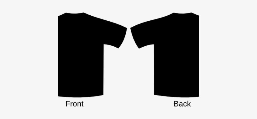 Blank Black T Shirt Vector.