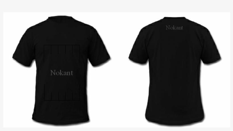 Blank Black T Shirt Front And Back Psd.