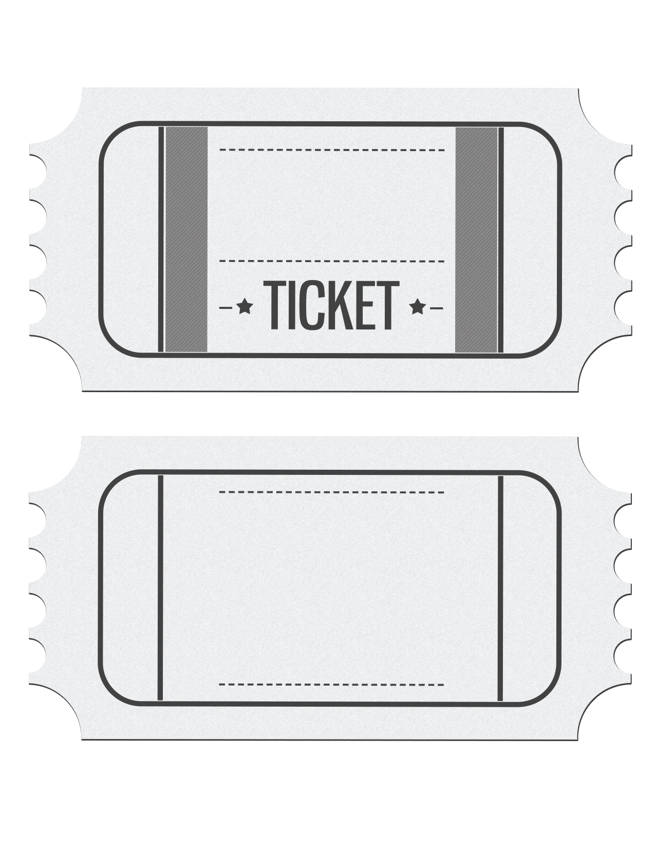 Blank Movie Ticket Free Download Clip Art.
