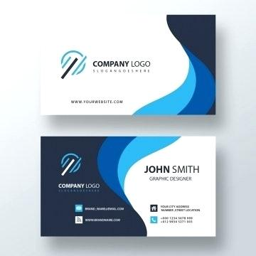 Business Card Template Png Blue Wavy Cards And Design.