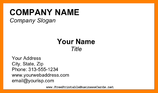 6+ blank business card template.
