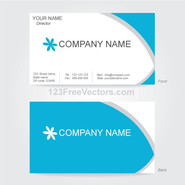 Vector Business Card Design Template.