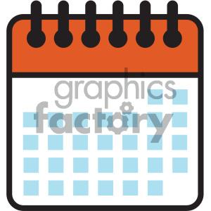 blank calendar days vector icon clipart. Royalty.