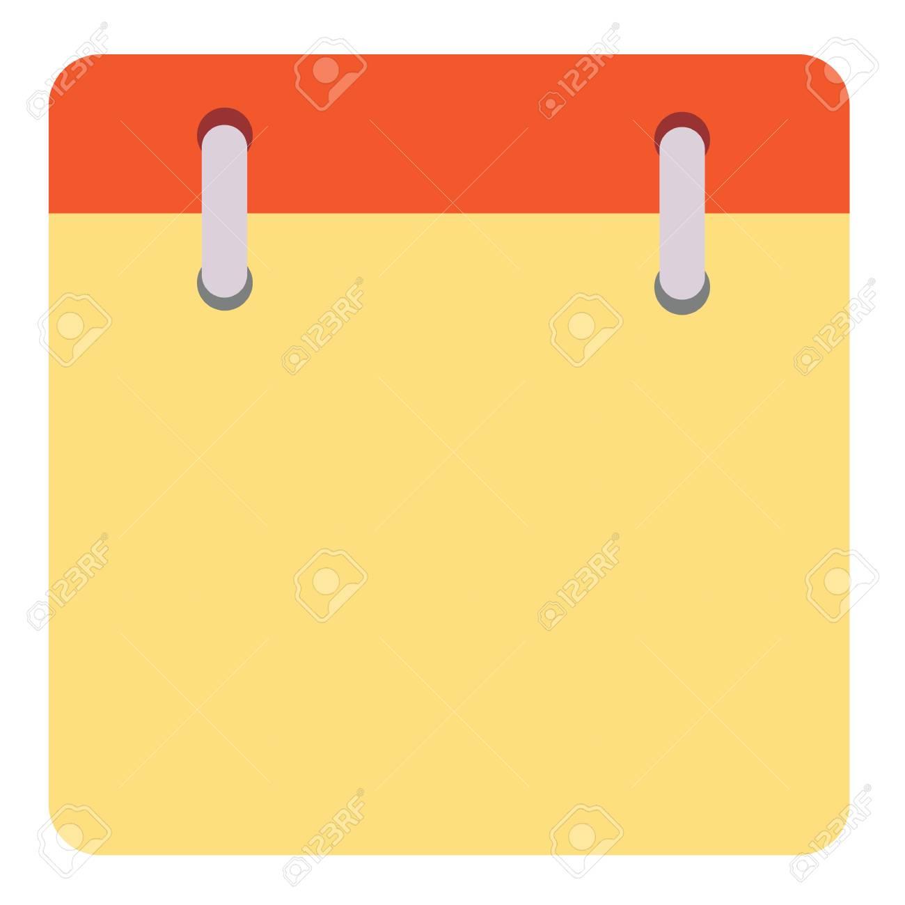 Blank calendar page icon..
