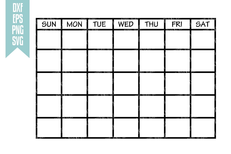 Catch Blank Monthly Calendar Clip Art ⋆ The Best Printable Calendar.