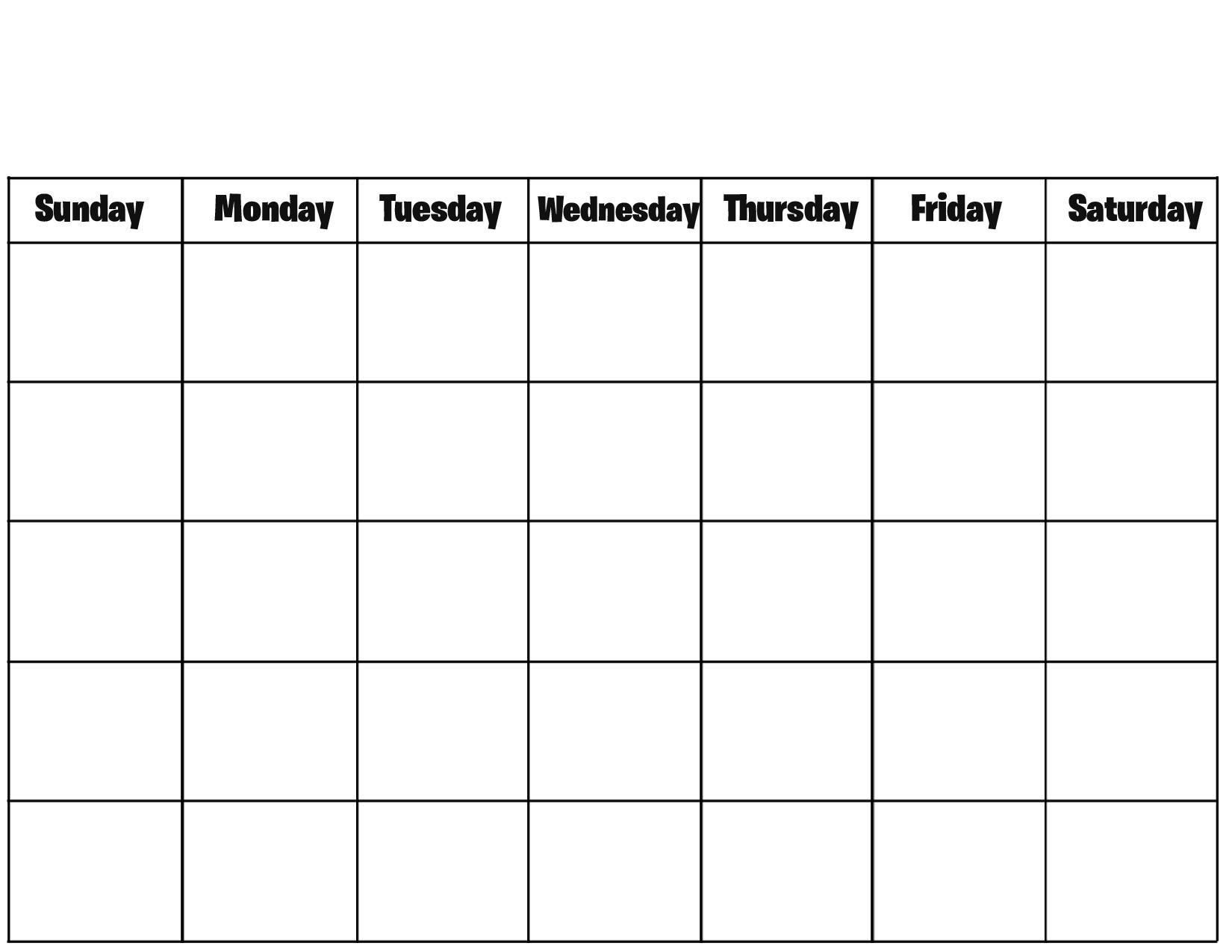 Blank Calendar Excel Template 2019.