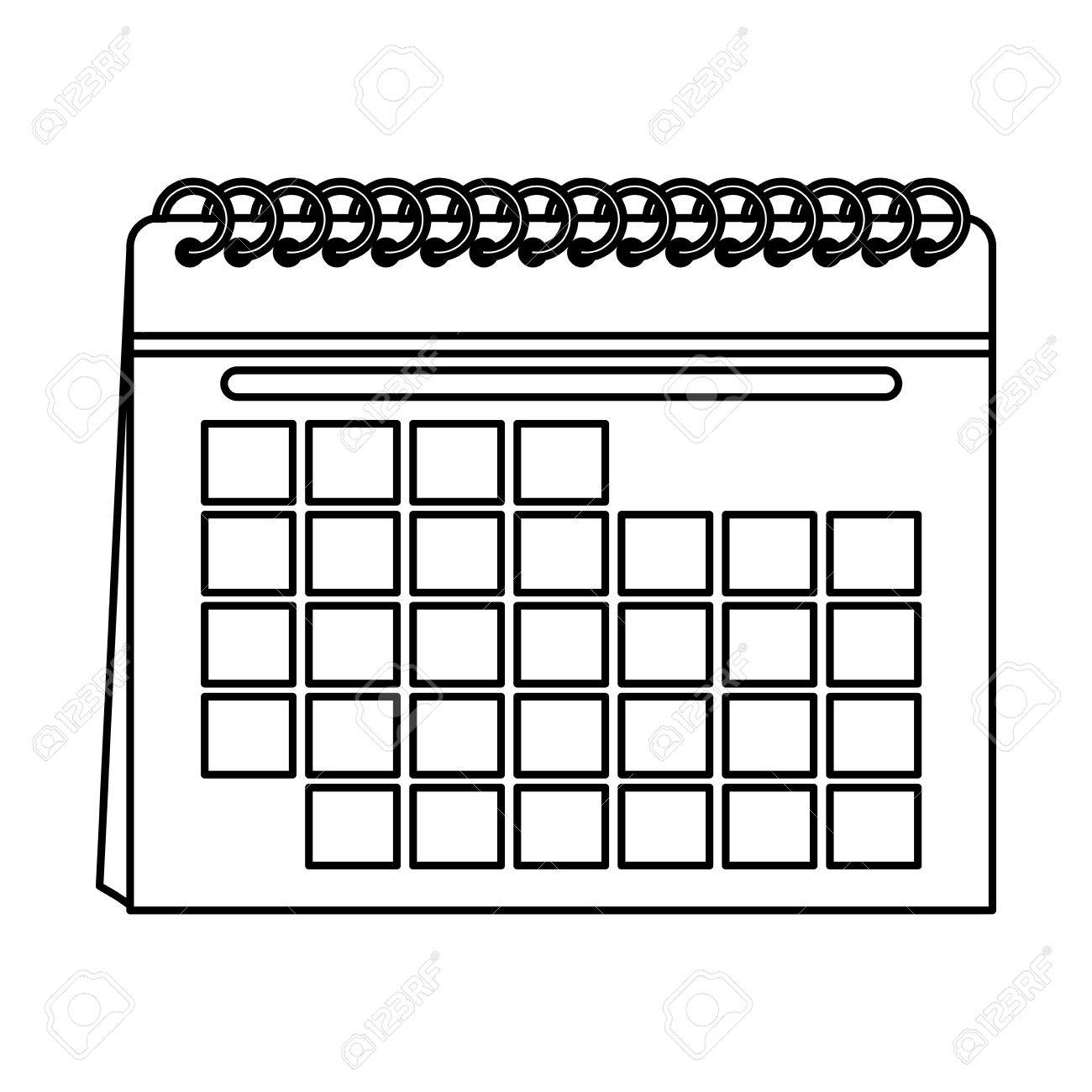blank calendar icon image vector illustration design single...