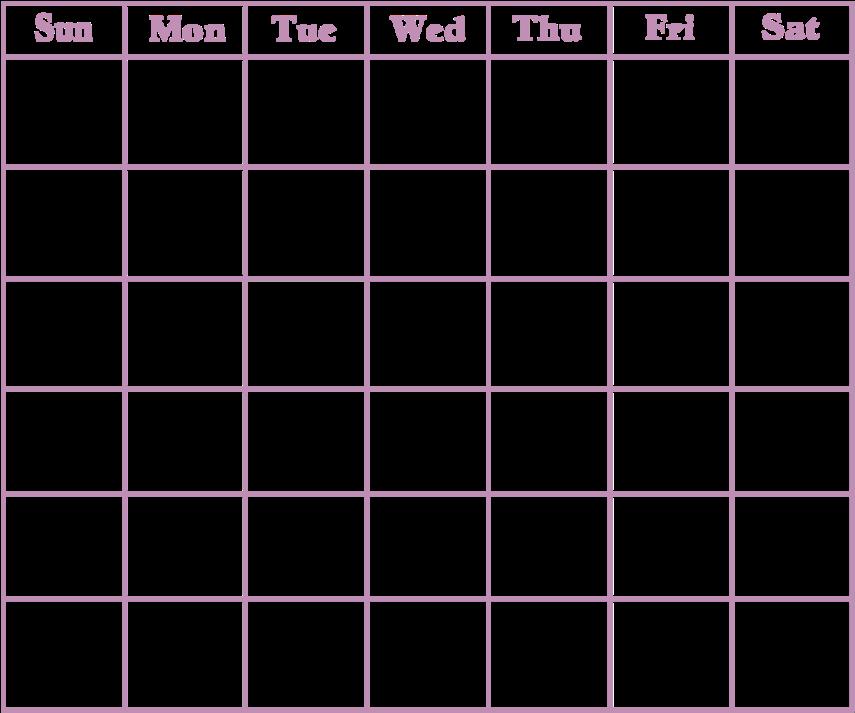 HD Banner Royalty Free Download Calendar Transparent Blank.