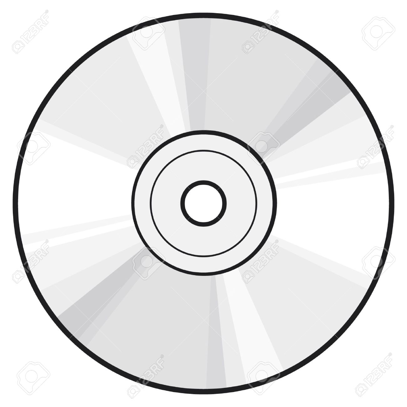 Vector clipart cd.