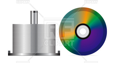 Stack of blank CDs Vector Image #74847.