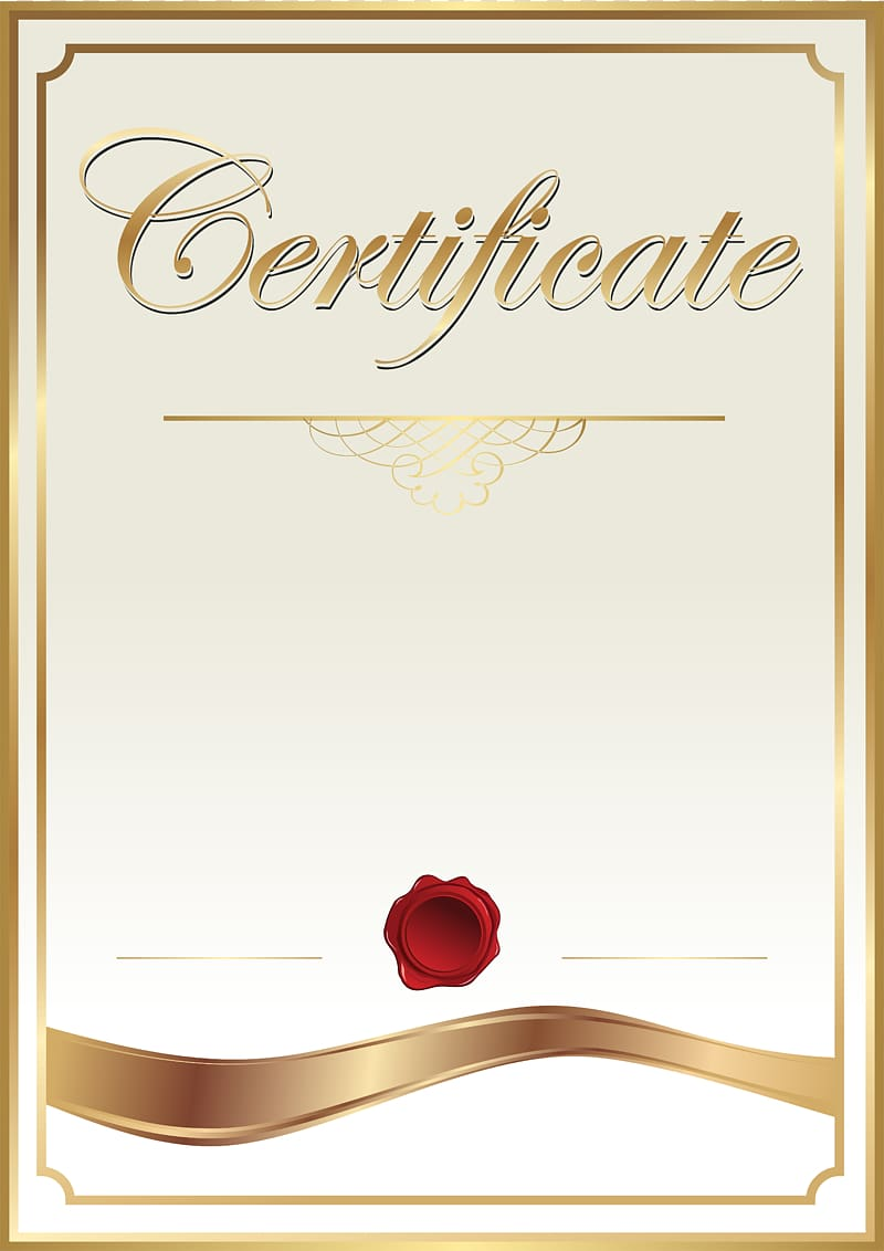 Gold and white certificate , Template Academic certificate.