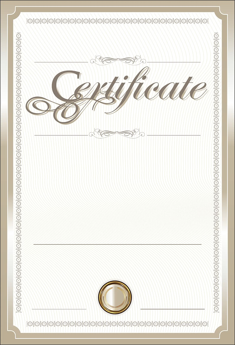 White blank certificate paper, Template , Certificate.