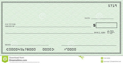 Blank check clip art free.
