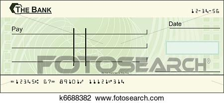 Blank cheque illustration Clipart.