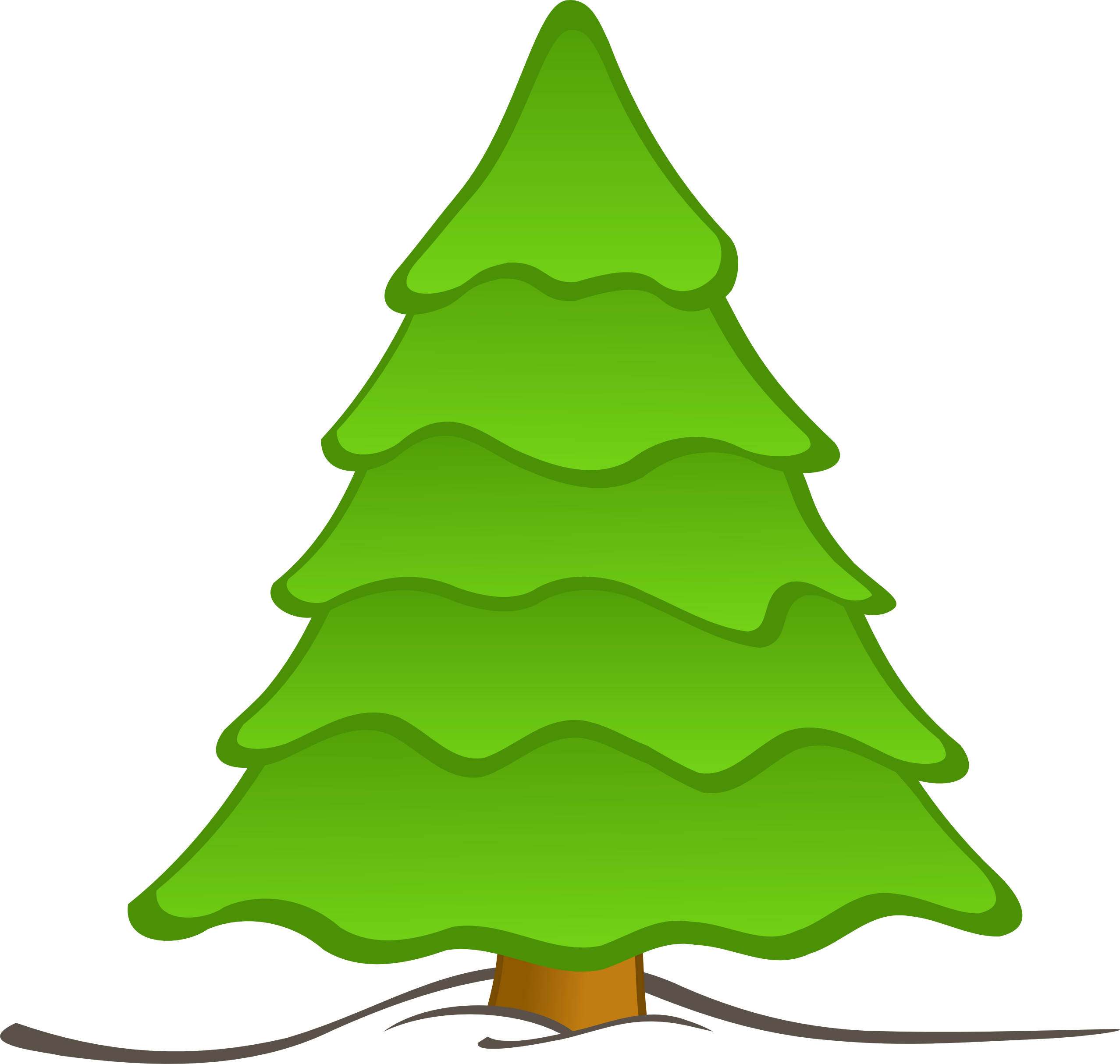 Plain Christmas Tree Clipart.