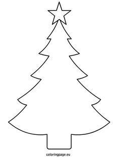 Printable Christmas Tree Clipart Black And White.