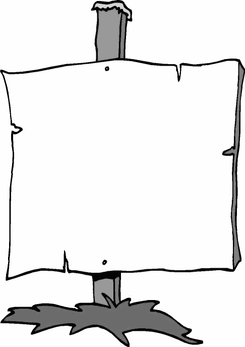 Wooden Blank Sign Clipart.
