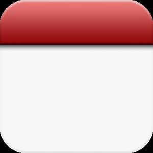 Blank Calendar Clipart Icon.