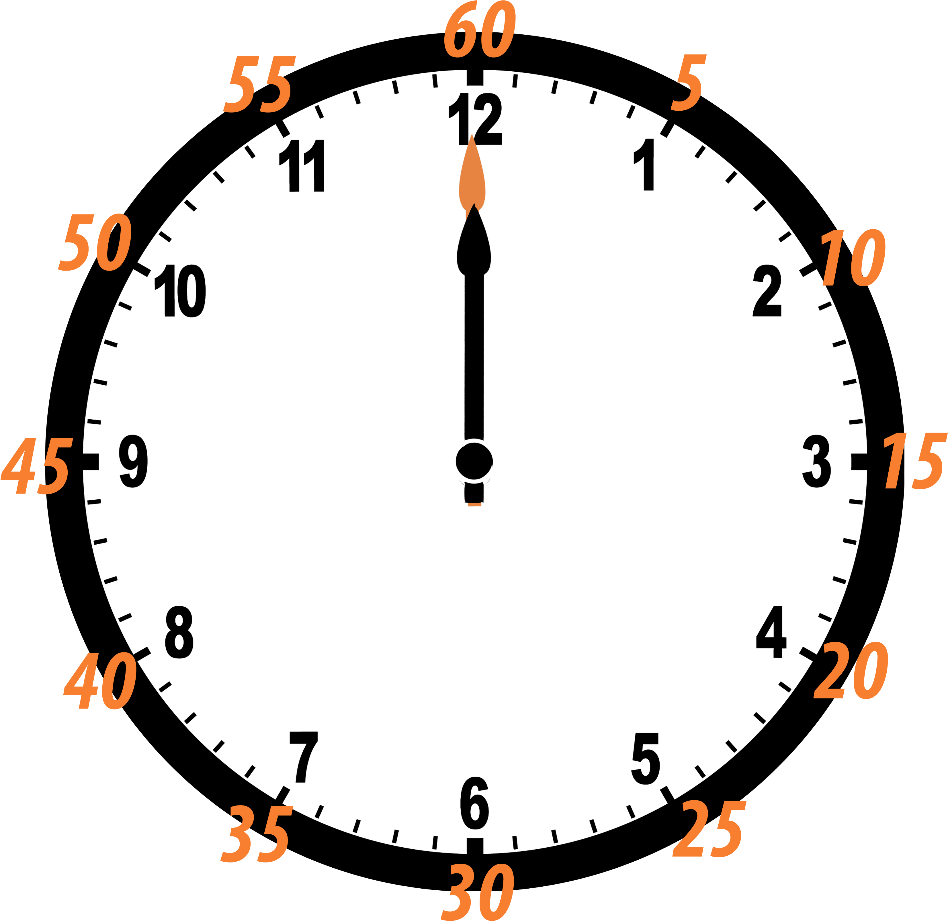 Printable Blank Clock Face Clipart.