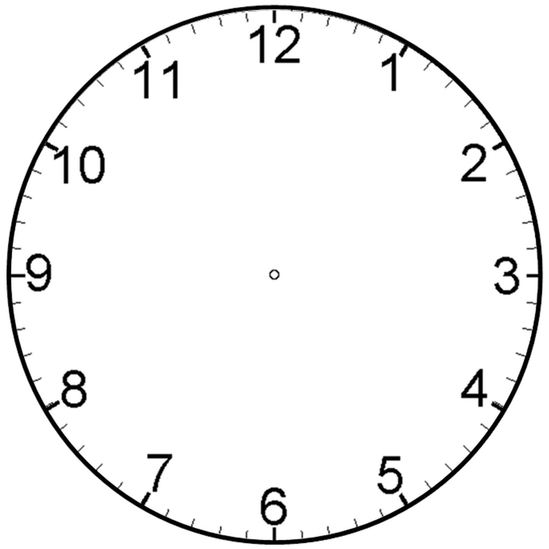 Printable Clock for Children.