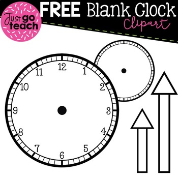 FREE Blank Clock with Minute and Hour Hands {Clipart} by.
