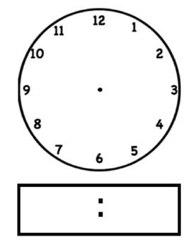 Blank Digital Clock Clipart.