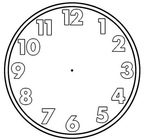 Blank Clock Face Clip Art.