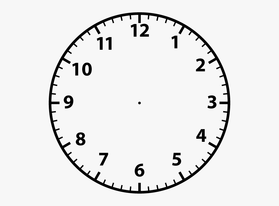 Blank Analogue Clocks Space Clipart.