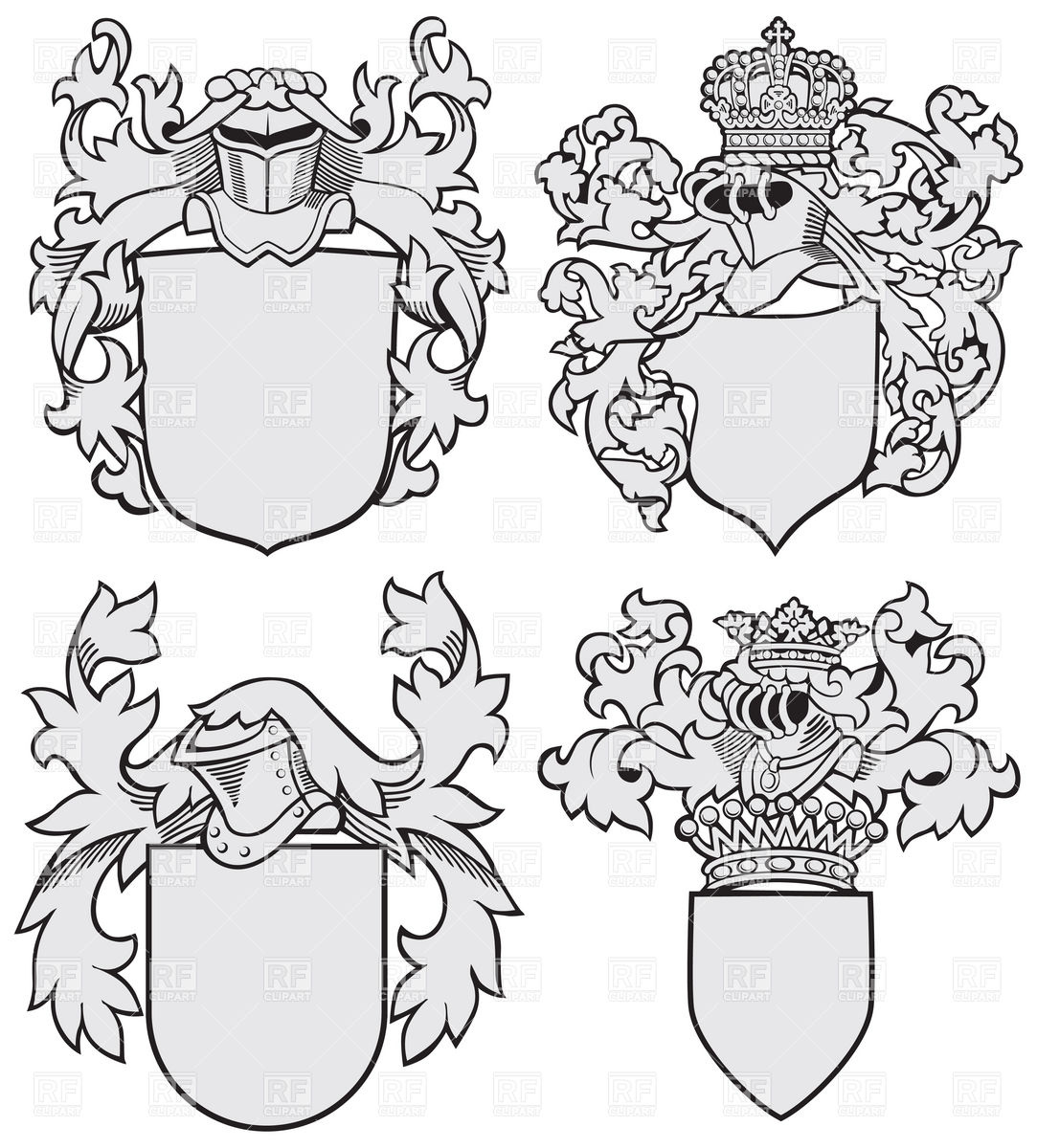 Blank Coat Of Arms Clipart.