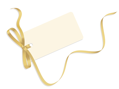 Blank tags with colored ribbon vector 01 free download.