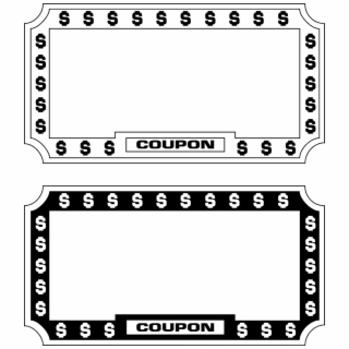 Coupon PNG Images.