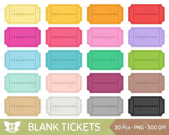 Blank Ticket Clipart, Coupon Discount Reward Sale Voucher.