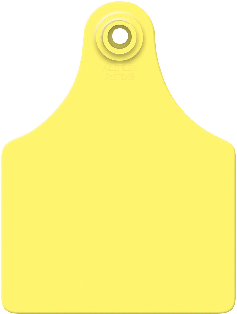 Details about Allflex Global Maxi Blank Cattle Ear Tags 25 Count Yellow.