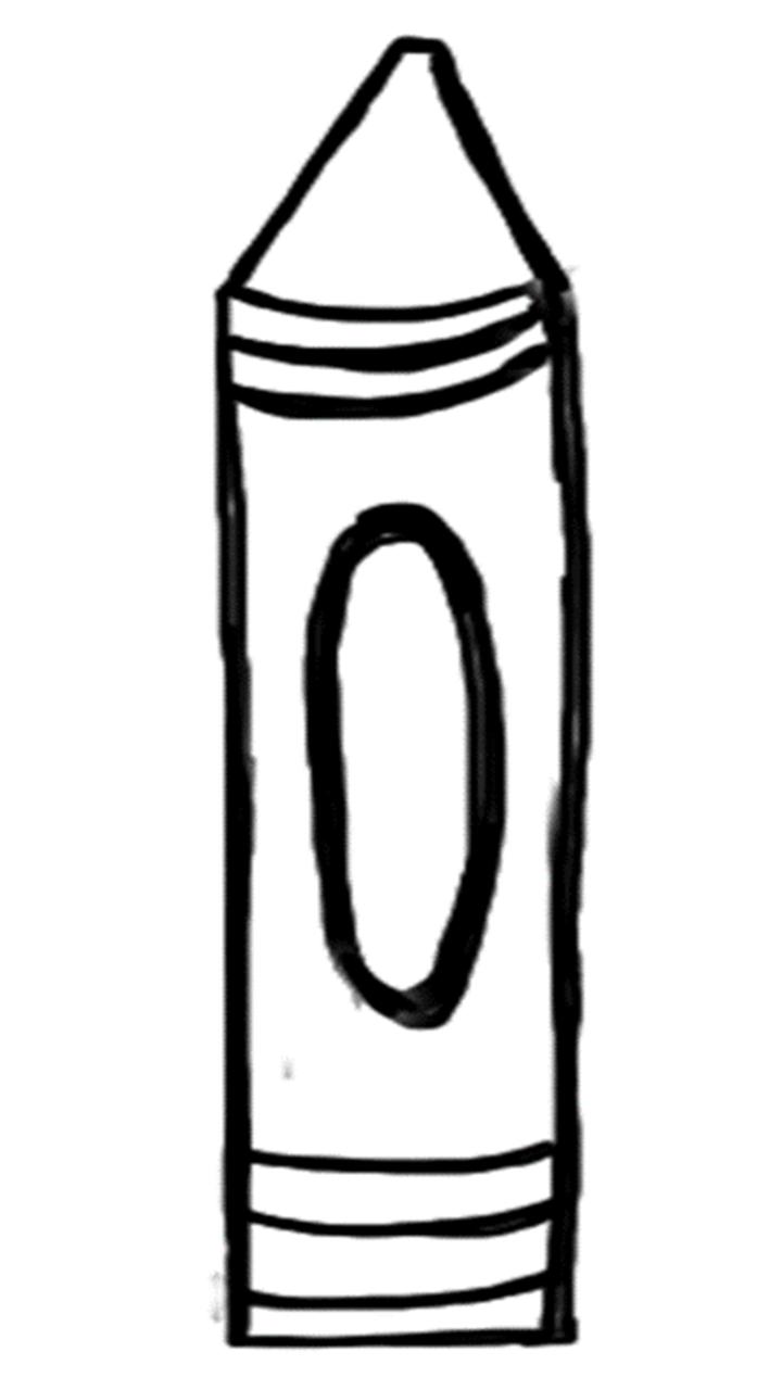 Blank Crayon Clipart.