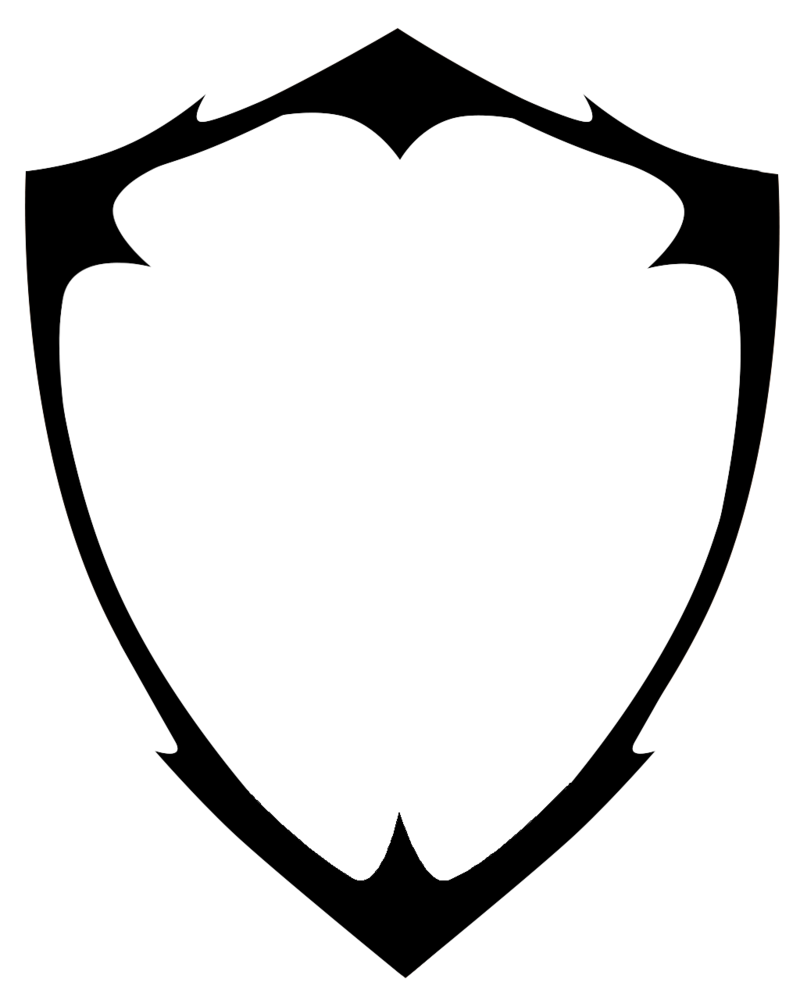 Blank Shield Vector (Game of Thrones Youtube Tutorial).