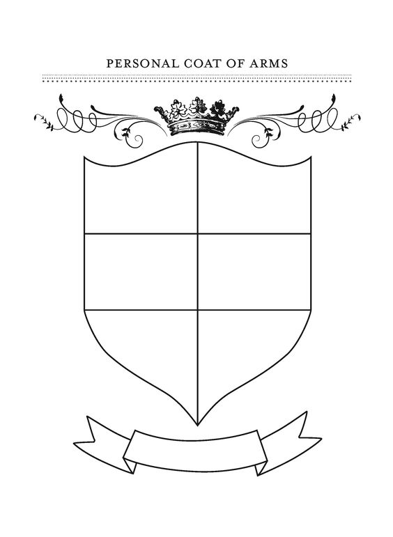 Blank Coat Of Arms Template Png (+).