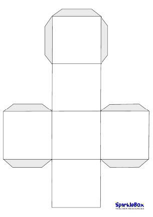 Blank dice template; will use this for alphabet and number review.