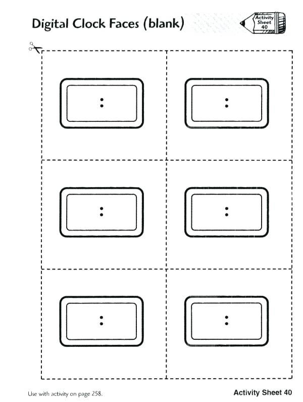 blank clock worksheets.