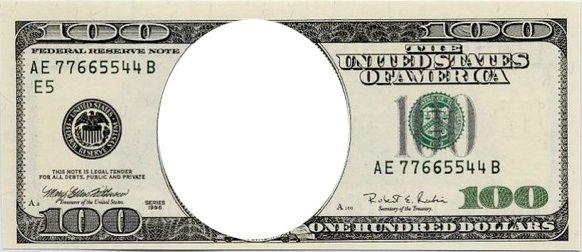 Blank Dollar Bill Template.
