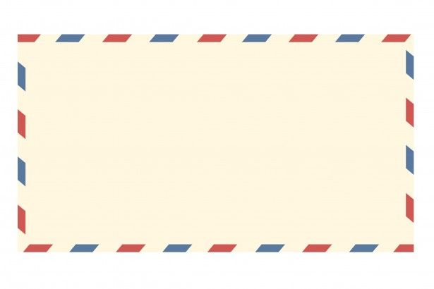 Blank vintage airmail envelope clipart for scrapbooking.