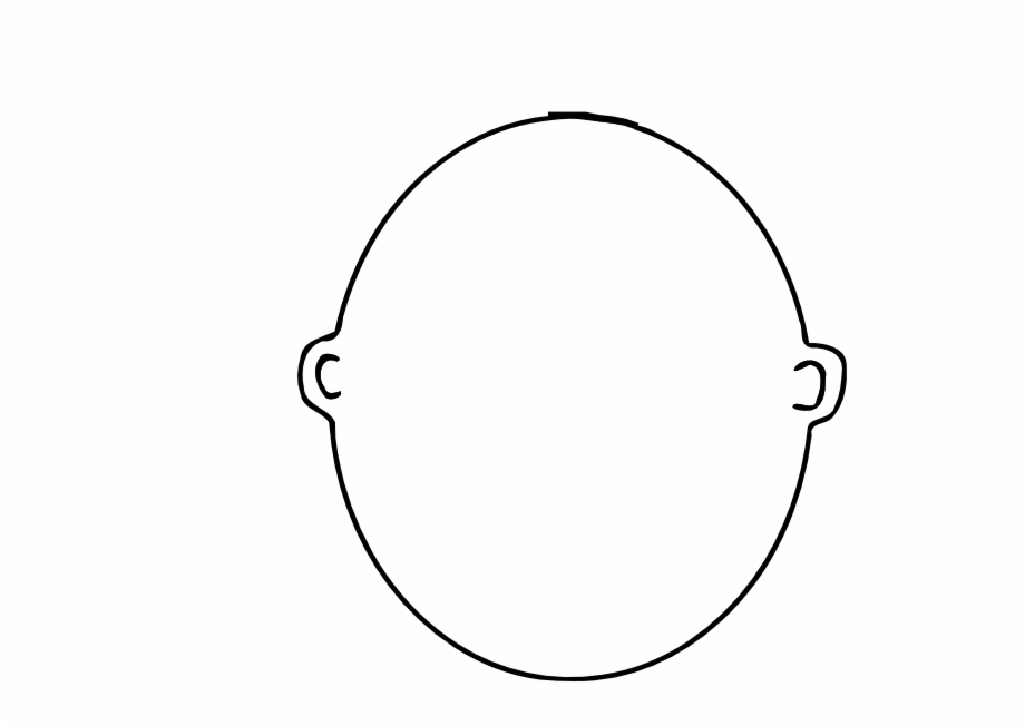 Profile Clipart Blank Face.