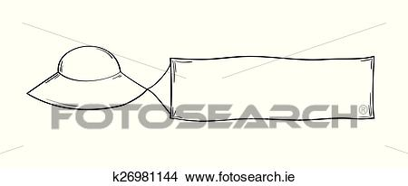 Clipart of ufo and blank flag k26981144.