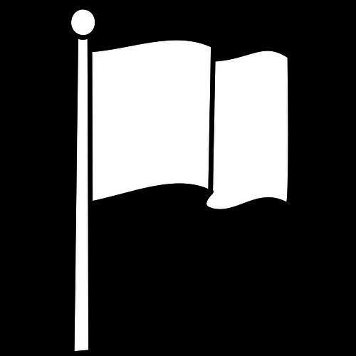 Blank flag vector image.